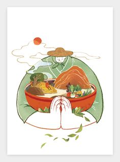 Illustration for T Illustration Design Graphique, Children's Book Illustration, Digital Illustration, Art Asiatique, Illustrations And Posters, Moleskine, Chinese Art, Art Inspo, Watercolor Art