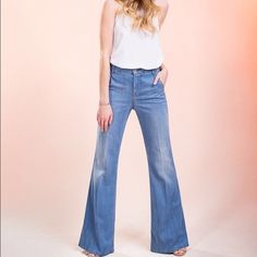 Selling this NWOT Level 99 Tanya High Rise Flare jeans sz 27 in my Poshmark closet! My username is: lbriggs80. #shopmycloset #poshmark #fashion #shopping #style #forsale #Level 99 #Denim