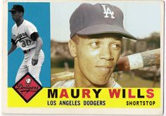 1960 Topps Maury Wills Old Baseball Cards, Baseball Photos, Playing For Keeps, Kids Playing, Maury Wills, Dodgers Fan, Los Angeles Dodgers, Custom Cards, Got Him