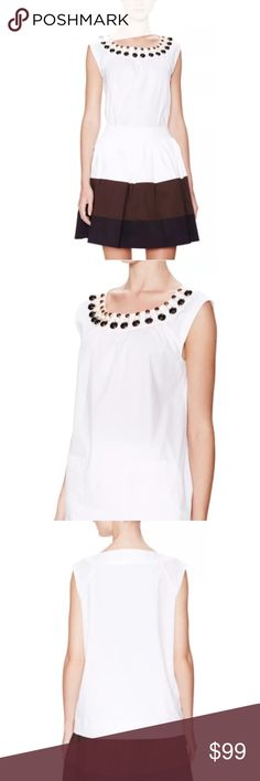 Kate Spade Cap Sleeve Rio Embellished Top Great shirt to pair with jeans or a cute skirt! Perfect for summer and early fall weather! kate spade Tops Tees - Short Sleeve