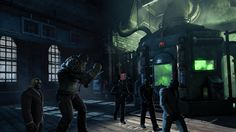 Batman: Arkham Origins, investigating Blackgate; observing the fate of the warden.