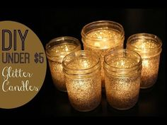 DIY Under $5 | Festive Glitter Candles! - YouTube