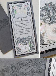 #artdeco #handpainted #weddinginvitations #artful