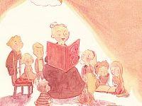 Teacher reading to children ... Illustration - Simona Ciraolo