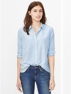 Silk cotton shirt - An essential piece for simple, sophisticated style. Machine washable.