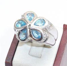 Design+925+Silber+Ring+mit+Blautopase++SR109+von+Atelier+Regina++auf+DaWanda.com