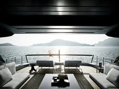 Sit and relax - Enjoy a unique point of view from the Sanlorenzo Yacht SX88's exclusive terrace on the sea.  http://bit.ly/2zQTQso  #SimpsonMarine #Sanlorenzo #SX88