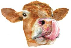 Cow painting Limited Edition Giclee print of original by LeeCoo, $30.00