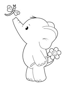 'Ella with Dragonfly' Cute Elephant – Simply Cards & Papercraft magazine - Free Digi Stamp! 'Ella with Dragonfly' Cute Elephant - Simply Cards & Papercraft. Cute Coloring Pages, Coloring Books, Fairy Coloring, Animal Coloring Pages, Digi Stamps Free, Elephant Coloring Page, Printable Animals, Whimsy Stamps, Cute Elephant