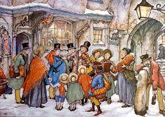 Anton Pieck. Les Chorale De Noël.