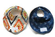 Limited Edition Aztec Set of 2 Baby Bibs -  Drool Bib - Newborn Bib - Baby Shower Gift - Baby Accessories - New Mom Gift SKU: Combined