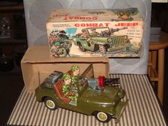 NOMURA COMBAT JEEP, BATTERY OPERATED 100% FULLY OPERATIONAL WITH ORIGINAL BOX!! #NOMURATOYINDUSTRIALCOLTD