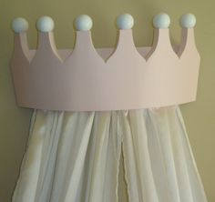 Pink Princess Bed Crown Valance / Canopy / by PrincessBedCrowns, $125.00