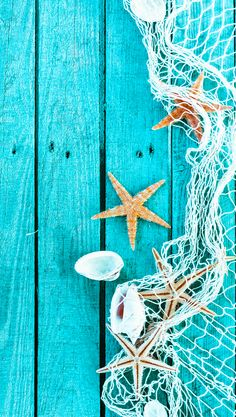 ↑↑TAP AND GET THE FREE APP! Art Creative Sea Star Blue Wood Shell HD iPhone 6 Wallpaper