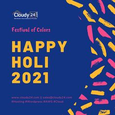 Happy Holi, Envy, Pride, Wordpress, March, Social Media, Clouds, Events, Let It Be