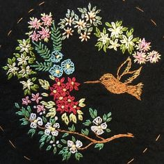 hummingbird embroidery