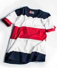SHIPS GENERAL SUPPLY(シップス ジェネラルサプライ)のSGS: ビッグボーダーTee■(Tシャツ/カットソー)|レッド