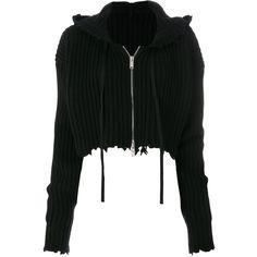 Unravel Project torn ribbed hoodie (88.185 RUB) ❤ liked on Polyvore featuring tops, hoodies, black, destroyed hoodie, hooded sweatshirt, distressed hoodie, ripped hoodie and long sleeve crop top