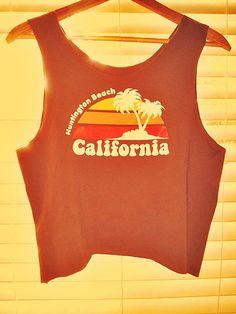 Huntington Beach Vintage Crop Top by TheLotusPetals on Etsy, $20.00
