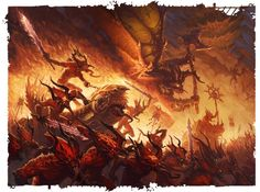 Please note, I am in no way affiliated to Games Workshop or Fantasy Flight Games nor am I anything close to an artist of any sort, I am merely a fan of the franchise and the amazing art it has spawned. Fantasy Demon, Demon Art, Fantasy Monster, Dark Fantasy Art, Fantasy Artwork, Warhammer 40k Art, Warhammer Fantasy, Chaos Daemons, Chaos 40k