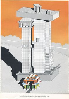 Ettore Sottsass - design for a skyscraper