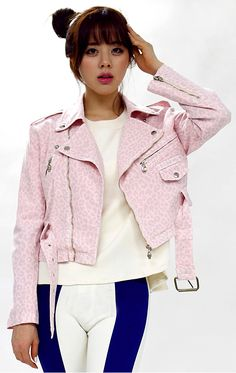 Cotton Pink Leopard Leather Jacket | Fall & Winter | Dolly & Molly | www.dollymolly.com | #leopard #cotton #pink #candy #pastel #colors #winter #fall #outer #outfit #lookbook #snaps #cotton #dream #soft