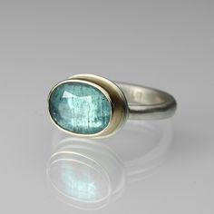 """Blue Tourmaline Ring by Jamie Joseph 