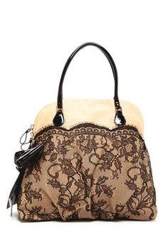 Valentino Raffia Lace Handbag