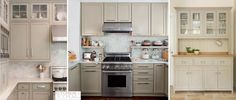 Бежевая кухонная мебель