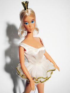 Ballerina Barbie....I had her....I always wanted to take that crown off her head....lol...