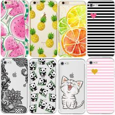 Buy Wallmart.win Plus Phone Cases Soft Tpu Fundas Fruit Transparent Silicon Case Cover For Iphone X 8 7 4 4s 5s 5c S: Vendor: DW Type:…