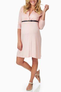 05c64a293d880 A solid 3/4 sleeve dress. V-neckline perfect for nursing after pregnancy
