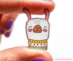 Alpaca Love enamel pin // Alpaca hard enamel pin Lama