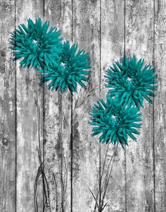 Teal Wall Art Teal Flowers Rustic Teal Gray Wall Art Rustic Teal Home Decor Picture Teal Wall Art, Canvas Wall Art, Teal Art, Home Decor Pictures, Pictures To Paint, Turquoise Wallpaper, Teal Home Decor, Teal Flowers, Teal Walls