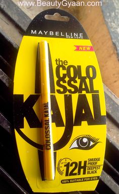 New Maybelline Colossal Kajal Review 12 Hour Formula Swatches EOTD Read Full review here http://beautygyaan.com/index.php/maybelline-colossal-kajal-review-12-hour/