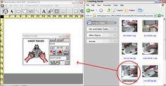 Boardmaker window and image library window