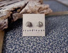 Iron Pyrite Fools Gold Stud Earrings with Hypo by scandinazn, $15.00