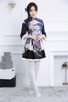 New game NikkiUP2U2 cosplay costume NanKeYi Lolita Maid dress erotic fancy Firefly grass Kimono Cosplay Dress, Costume Dress, Cosplay Costumes, Anime Cosplay, Anime Girl Dress, Girls Dress Up, Anime Girls, Classic Fonts, Cat Dresses