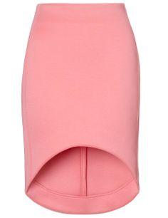 Sewing Inspiration: Bubblegum Cut-Away Scuba Skirt   Josh Goot Curved Hemline