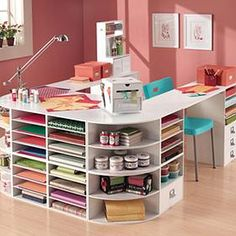 """""""Craft Room Dreams"""" #furniture #painting #craftroom #inspiration"""