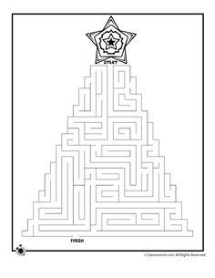Printable Christmas Mazes Christmas Tree Maze 1 – Classroom Jr.