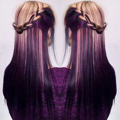 Purple and blonde hair