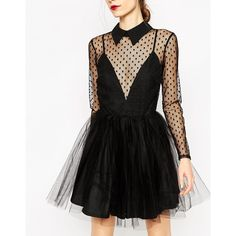 ASOS Lace Netted Prom Mini Skater Dress (€80) ❤ liked on Polyvore featuring dresses, lace prom dresses, lace dress, net dress, prom dresses and mini dress