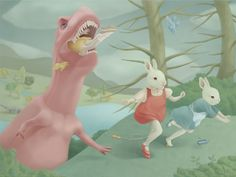 """""""Dinosaur is Eating My Friend"""" by Hsiao Ron Cheng"""