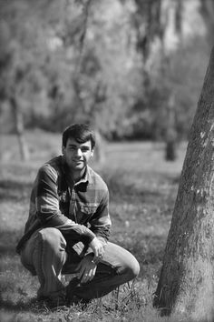 Senior boy black & white photography