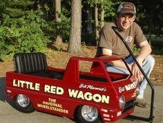 AWESOME Bill Maverick Golden's Little Red Wagon wheel standing pedal car Custom Radio Flyer Wagon, Radio Flyer Wagons, Kids Wagon, Toy Wagon, Rat Rods, Pull Wagon, Little Red Wagon, Bike Pedals, Kids Ride On