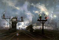 Wildlife and railway artist David Shepherd. A Britsh contemporary oil painter who has received worldwide acclaimation for his African wildlife and steam locomotive paintings. Railway Posters, Travel Posters, Old Steam Train, National Railway Museum, Steam Railway, Train Art, British Rail, Painting Services, Art Uk