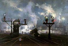 Service by Night (British Railways poster artwork) by David Shepherd