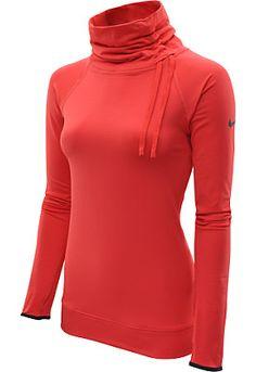 For winter running! NIKE Women's Pro Hyperwarm Fitted Side-Tie Top