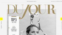 DuJour www.dujour.com #web #websites #webdesign #digital #html #editorial